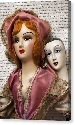 Two Old Dolls Canvas Print by Garry Gay