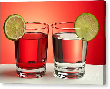 Two Red Drinks Canvas Print by Blink Images
