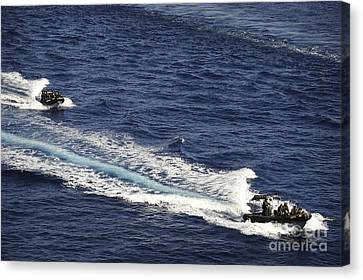Two Spanish Navy Ridged-hull Inflatable Canvas Print