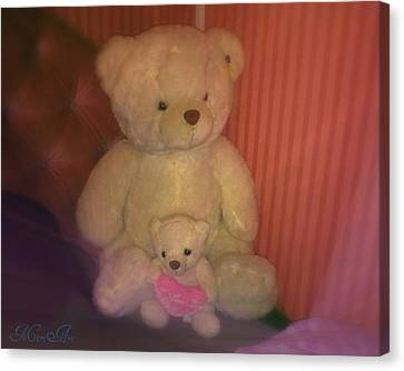 Two Teddies  Canvas Print