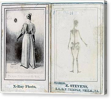 Two Views Of A Woman, Clothed Canvas Print by Everett