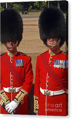 Two Warrant Officers Of The Irish Canvas Print by Andrew Chittock