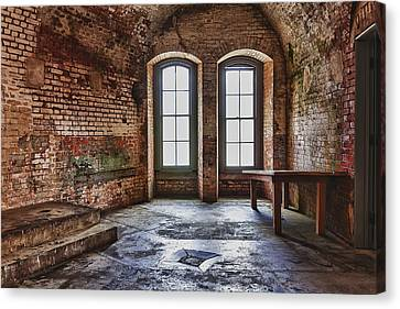 Glass Wall Canvas Print - Two Windows by Garry Gay