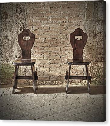 Two Wooden Chairs Canvas Print by Joana Kruse