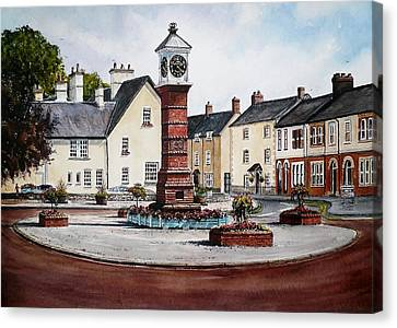 Twyn Square Usk Canvas Print by Andrew Read