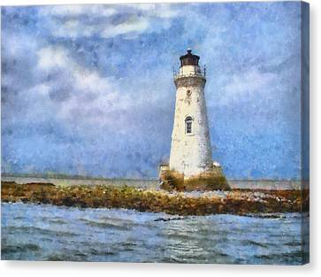 Tybee Island Lighthouse Canvas Print by Lynne Jenkins