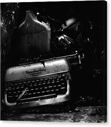 Typewriter Canvas Print by Eric Tadsen