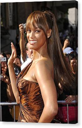 Tyra Banks At Arrivals For 34th Annual Canvas Print by Everett