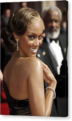 Tyra Banks At Arrivals For 58th Annual Canvas Print by Everett