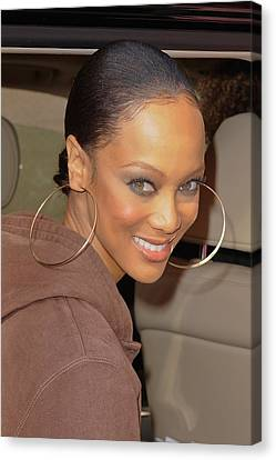 Tyra Banks, Leaves The Wendy Williams Canvas Print by Everett