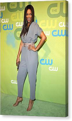 Tyra Banks Wearing A Marley Jumpsuit Canvas Print by Everett