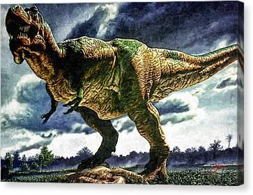 Tyrannosaurus Rex Canvas Print by Dancin Artworks