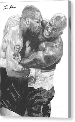 Tyson Vs Holyfield Canvas Print