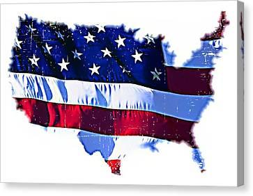 U. S. A. Canvas Print by ABA Studio Designs
