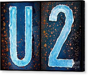 Jay Taylor Canvas Print - U2 by Jay Taylor