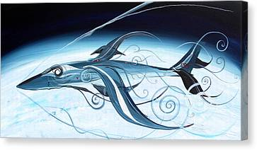 U2 Spyfish - Spy Plane As Abstract Fish - Canvas Print by J Vincent Scarpace