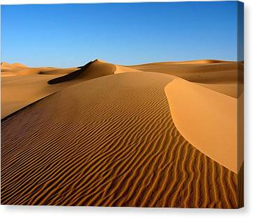 Ubari Sand Sea, Libyan Sahara Canvas Print by Joe & Clair Carnegie / Libyan Soup