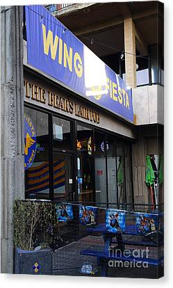 Uc Berkeley . Bears Lair Pub . 7d10163 Canvas Print by Wingsdomain Art and Photography