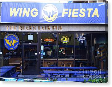Uc Berkeley . Bears Lair Pub . 7d10165 Canvas Print by Wingsdomain Art and Photography