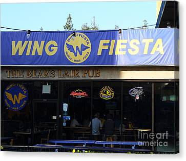 Uc Berkeley . Bears Lair Pub . 7d9980 Canvas Print by Wingsdomain Art and Photography