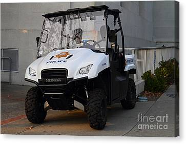 Uc Berkeley Campus Police Buggy  . 7d10184 Canvas Print by Wingsdomain Art and Photography