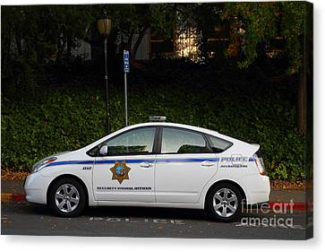Uc Berkeley Campus Police Car  . 7d10181 Canvas Print by Wingsdomain Art and Photography