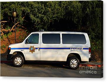 Uc Berkeley Campus Police Van  . 7d10180 Canvas Print by Wingsdomain Art and Photography