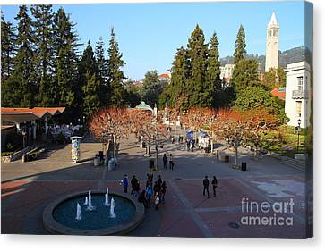 Uc Berkeley . Sproul Hall . Sproul Plaza . Sather Gate And Sather Tower Campanile . 7d10003 Canvas Print by Wingsdomain Art and Photography