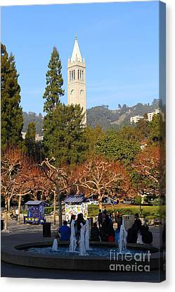 Uc Berkeley . Sproul Plaza . Sather Gate . 7d9998 Canvas Print by Wingsdomain Art and Photography
