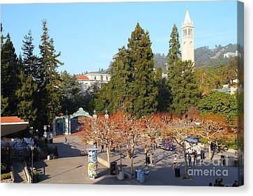 Uc Berkeley . Sproul Plaza . Sather Gate And Sather Tower Campanile . 7d10000 Canvas Print by Wingsdomain Art and Photography