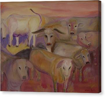 Udderly Different Canvas Print by Susan Hanlon