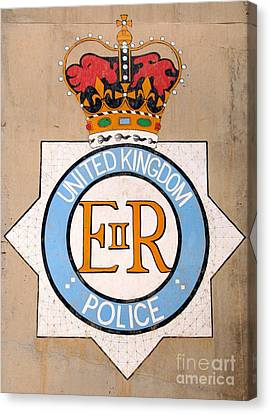 Uk Police Crest Canvas Print by Unknown