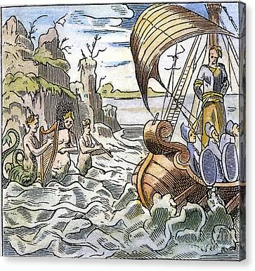 Ulysses, Tied To The Mast Canvas Print by Granger