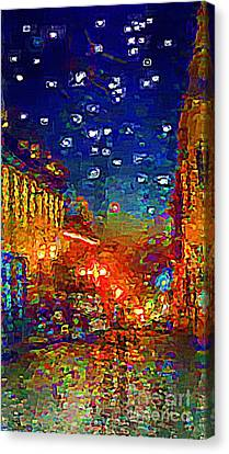 Umaran Street At Dusk Vg Canvas Print by John  Kolenberg