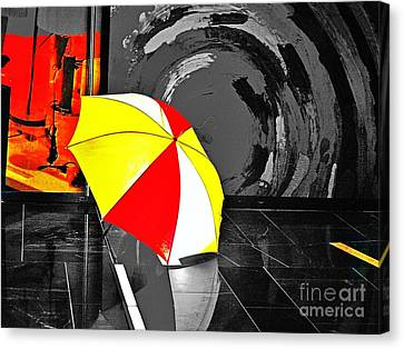 Canvas Print featuring the photograph Umbrella 2 by Blair Stuart