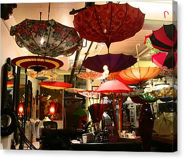 Umbrella Art Canvas Print by Kym Backland