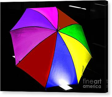 Canvas Print featuring the photograph Umbrella by Blair Stuart