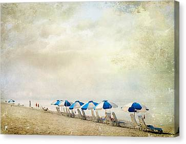 Umbrellas Canvas Print by Karen Lynch