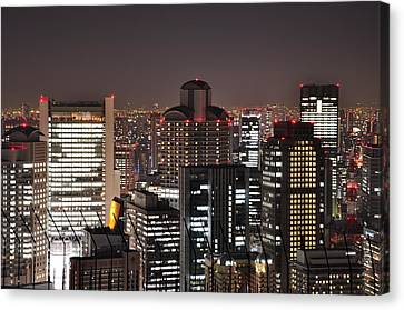 Umeda Night View Canvas Print by Onejoshuatree