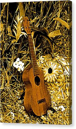 Canvas Print featuring the photograph Uncle Luthers Ukulele  by Randy Sylvia