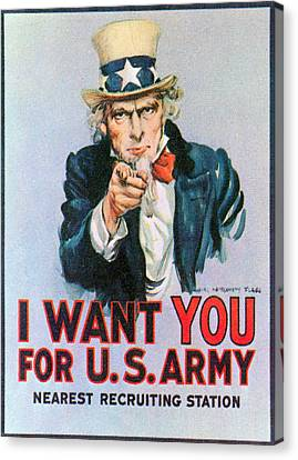 Uncle Sam I Want You Army Recruitment Canvas Print