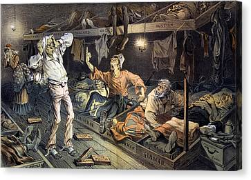 Uncle Sams Lodging-house. Print Shows Canvas Print by Everett