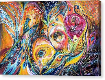 Under Olive Tree Canvas Print by Elena Kotliarker