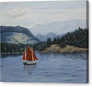 Under Sail In The San Juans Canvas Print