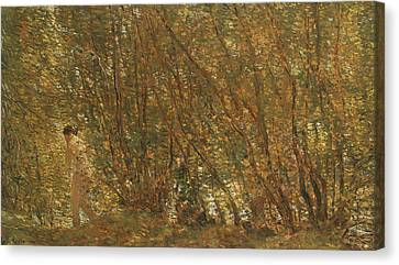 Under The Alders Canvas Print by Childe Hassam