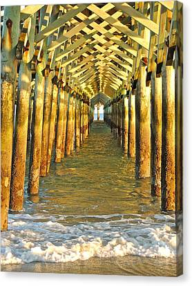 Under The Boardwalk Canvas Print by Eve Spring