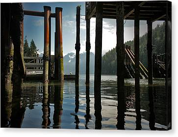 Under The Dock Canvas Print by Janet Kearns