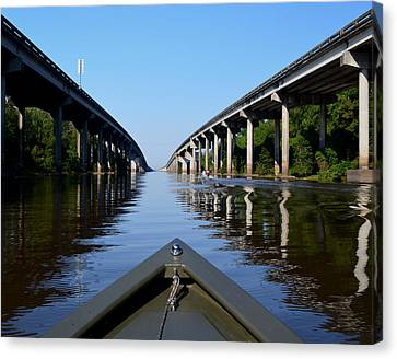 Under The Interstate Canvas Print by Maggy Marsh