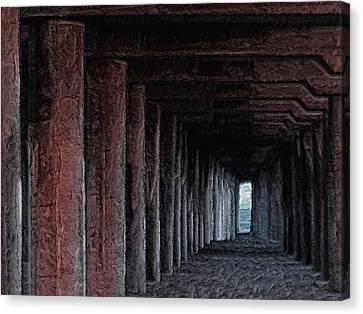 Under The Pier 2 Canvas Print by Ernie Echols