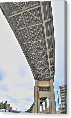 Canvas Print featuring the photograph Under The Skyway by Michael Frank Jr
